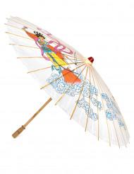 Ombrello cinese con geisha