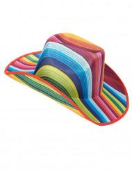 Cappello da cowboy multicolore adulto