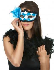 Maschera Dama blu