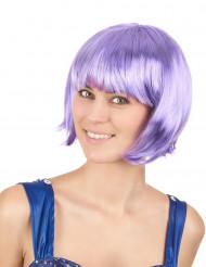 Parrucca corta lilla donna
