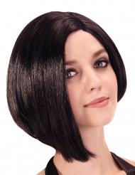 Parrucca corta caschetto asimmetrico per donna