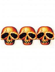 Decorazione di Halloween: ghirlanda teste di morto