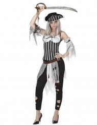 Costume piratessa zombie donna Halloween