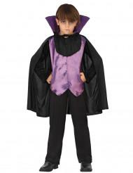 Costume vampiro nero e viola bambino