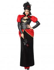 Costume vampiro con minicappello donna
