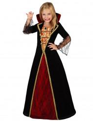 Costume vampiro bambina con profili dorati