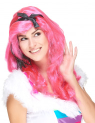 Parrucca rosa lunga glamour donna