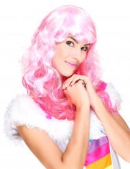 Parrucca glamour lunga rosa per donna
