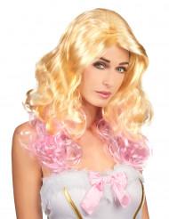 Parrucca bionda e rosa donna