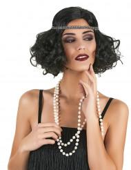 Parrucca Charleston nera per donna