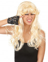 Parrucca lunga bionda con frangia