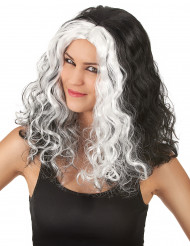 Parrucca bianca e nera donna