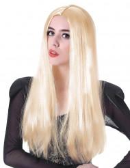 Parrucca lunga biondo platino per donna
