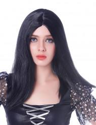 Parrucca lunga nera per adulto
