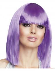 Parrucca caschetto viola donna