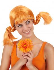 Parrucca con treccine rosse donna