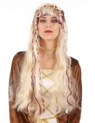 Parrucca bionda medievale donna