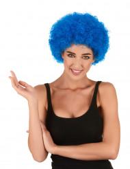 Parrucca afro/clown blu standard per adulto