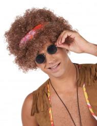 Parrucca afro hippie per adulto