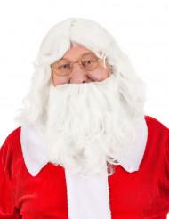 Parrucca e barba da babbo natale per adulto