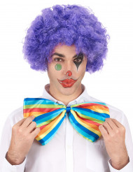 Perrucca afro/clown viola confort adulto
