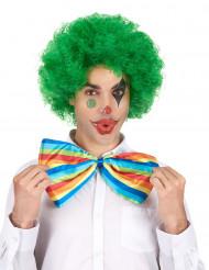 Perrucca afro/clown verde confort adulto