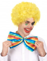 Perrucca afro/clown gialla confort adulto