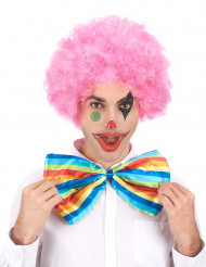 Parrucca afro/clown rosa confort adulto