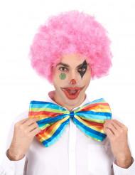 Parrucca afro/clown rosa confort adulto