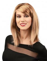 Parrucca glamour bionda liscia per donna