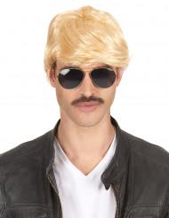 Parrucca bionda corta per uomo