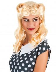 Image of Parrucca bionda boccoli donna