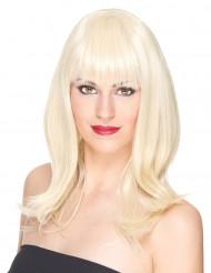 Parrucca deluxe bionda mezza lunghezza per donna