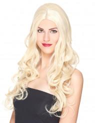 Parrucca deluxe bionda lunga onsulata da donna
