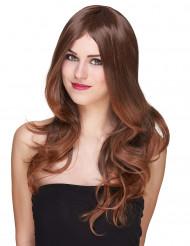 Parrucca lusso Castana lunga per donna