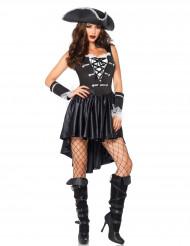 Costume da corsaro in nero sexy per donna