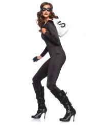 Costume tuta seconda pelle nera per donna