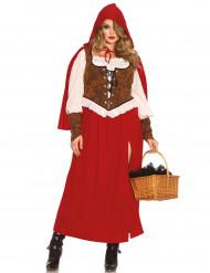 Costume da Cappuccetto rosso per donna taglie grandi