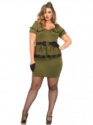 Costume militare con gonna per donna