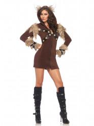 Costume Vichingo Donna con cappuccio