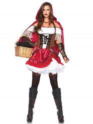 Costume Cappuccetto rosso per donna ribelle