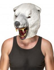 Maschera in lattice da orso polare per adulto
