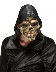 Maschera in lattice da teschio delle tenebre di Halloween