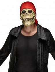 Maschera da teschio pirata per adulto Halloween