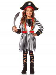 Costume Pirata a righe per bambina