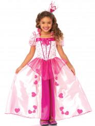 Costume principessa cuori rosa bambina