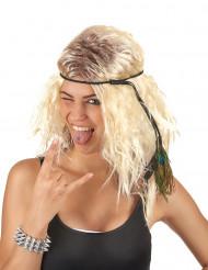 Parrucca popstar bionda da donna