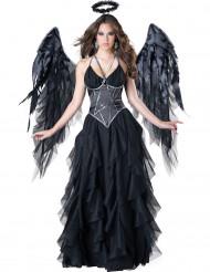 Costume Angelo Nero per donna - Premium