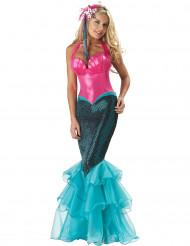 Costume premium da sirena rosa e blu per donna