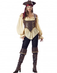 Travestimento Piratessa donna con pantalone - Premium
